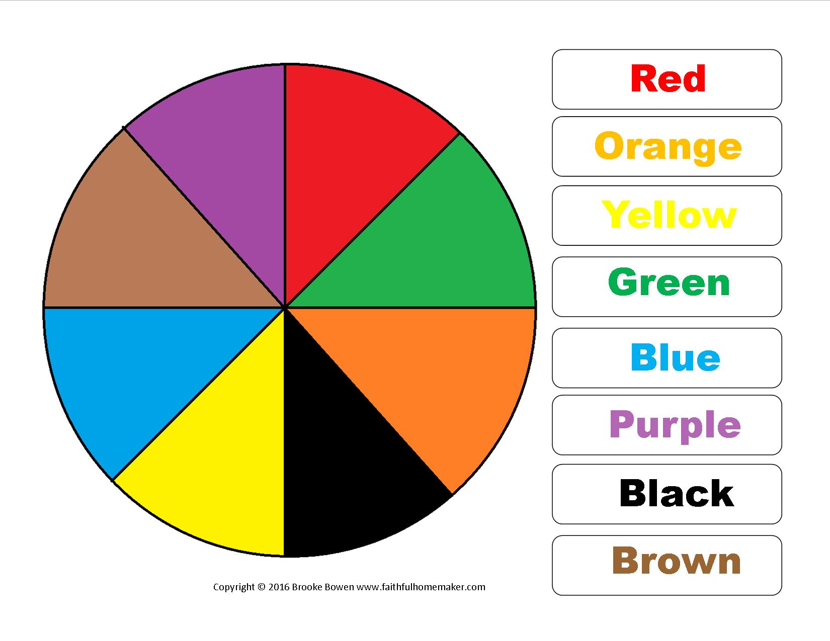 Free Printable Color Wheel The Faithful Homemaker